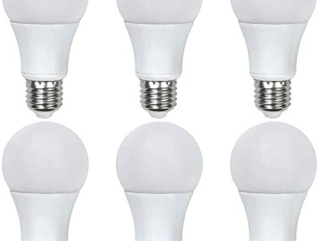 Asencia AN-03660 40 Watt Equivalent A19 General Purpose LED Light Bulb, 6-Pack, Non-Dimmable, 6 Pack, Soft White (2700K)