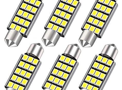 42MM 578 LED Festoon Bulbs, Extremely Bright 15smd 2835 Chipset 212-2 Led Car Bulbs, DE3425 DE3423 Replacement Bulbs for Car Interior Dome Map Courtesy Lights 1.64 inches 211-1 569 Led Car Bulbs ,6PCS
