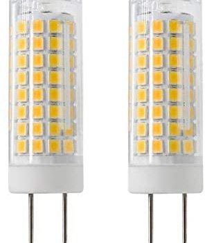 LED GY8.6 Bulb, 7W T4 G8 LED Bulb, 75W Halogen Bulb Replacement, GY8.6 Bi-pin Base Light Bulb, AC120V, for Under Counter Kitchen Lighting, Light Fitting, 2-Pack (Warm White)
