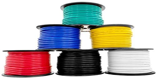 12 Gauge Copper Clad Aluminum Low Voltage Primary Wire 6 Color Combo 100 ft per Roll (600 feet Total) for 12V Automotive Trailer Light Car Audio Stereo Harness Wiring (Also in 2 or 4 Color Combo)