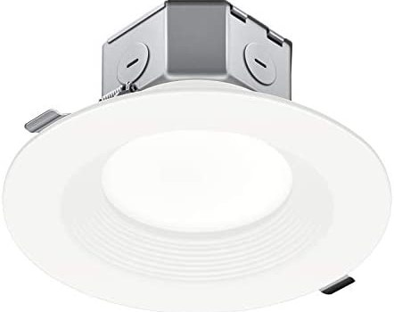 JULLISON 1 Pack 6 Inch LED Recessed Ceiling Downlight with Junction Box, Step Baffle, Round, 15W, 900 Lumens, 3000K Warm White, CRI90, Dimmable, IC + Air Tight, ETL Certified, White