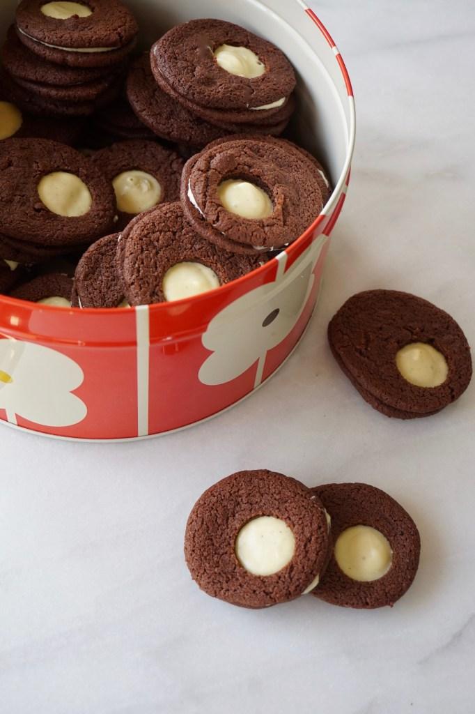 Chocolate + MInt Sandwich Cookies
