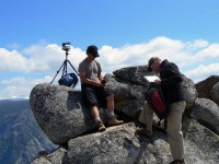 Eric, Scott and the Gigapan Unit on Eagle Peak