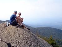 Tom and Denis at the Summit of Stowe Pinnacle