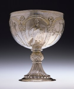 Chasing and Repoussé silver chalice