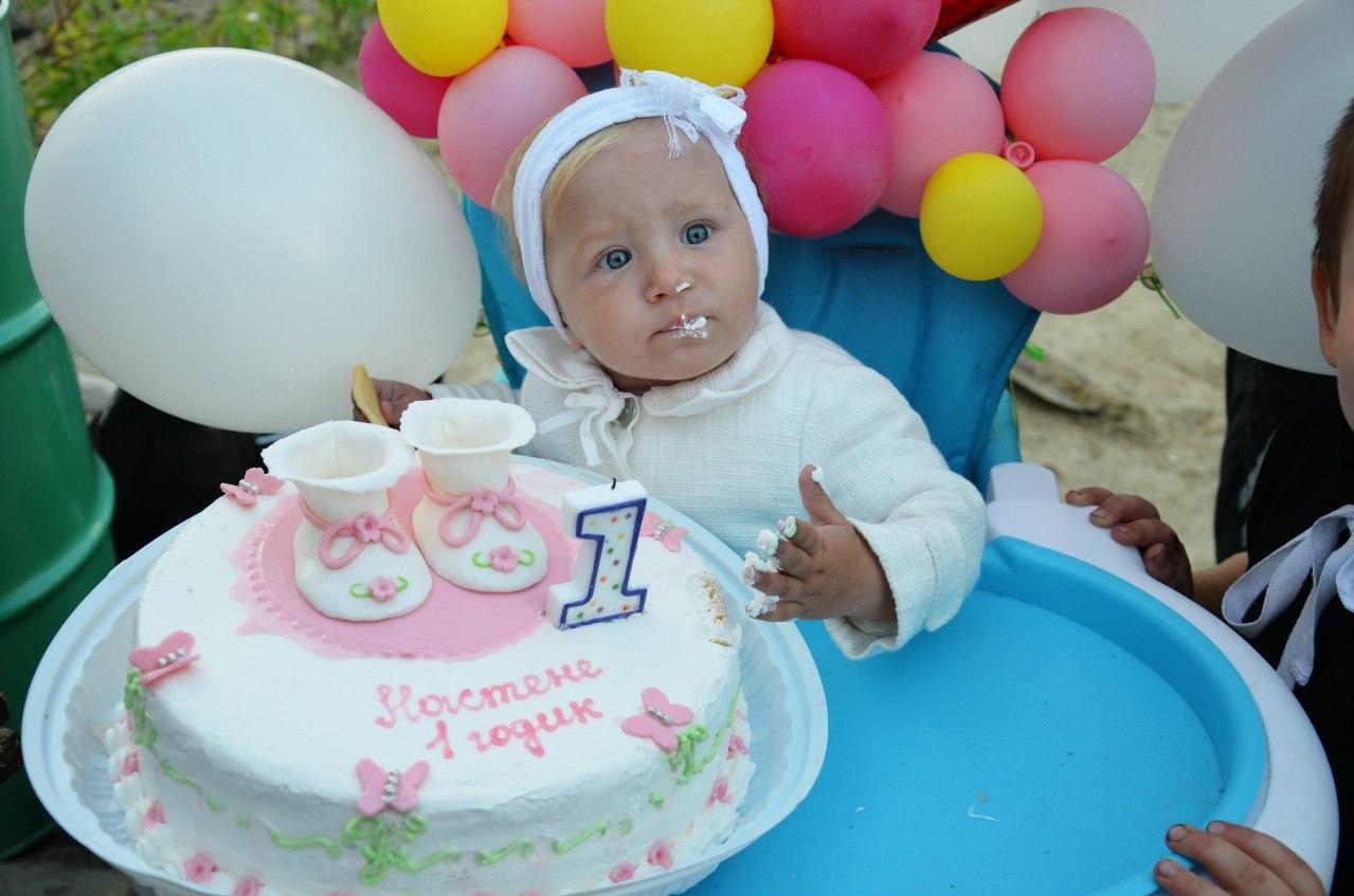 Торт своими руками на первый день рождения