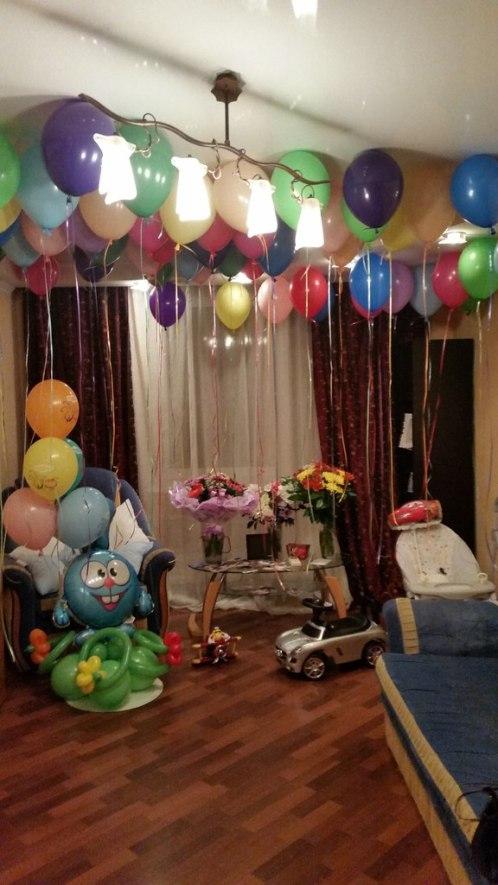день рождения первый год украшение комнаты
