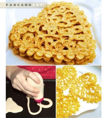 идеи для завтрака день Валентина сердечки блинчиков. jpg