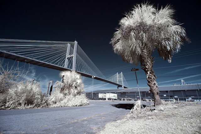 Talmadge Memorial Bridge in Super Color IR