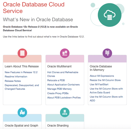 Oracle Database 12.2 - Cloud Documentation