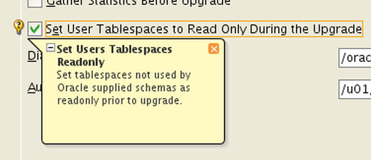 DBUA Upgrade - Read Only Tablespaces