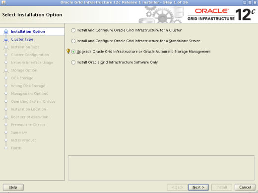 Grid Infrastructure OUI Upgrade Oracle Restart