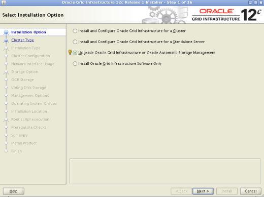 Grid Infrastructure OUI Upgrade Oracle Restart