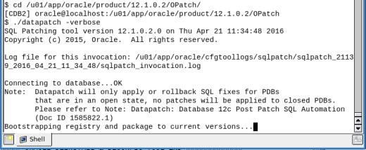 Oracle Database BP April16 applied successfully