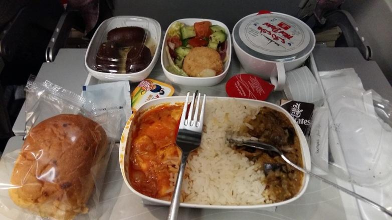 Emirates Asian Veg Meal CCU to DXB