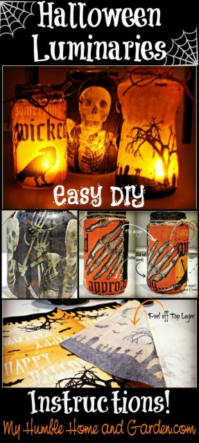 Halloween Luminaries - Easy DIY - on MyHumbleHomeandGarden.com