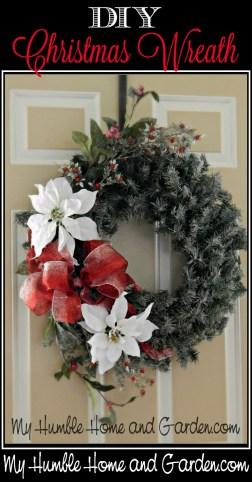 DIY Christmas Wreath on MyHumbleHomeandGarden.com