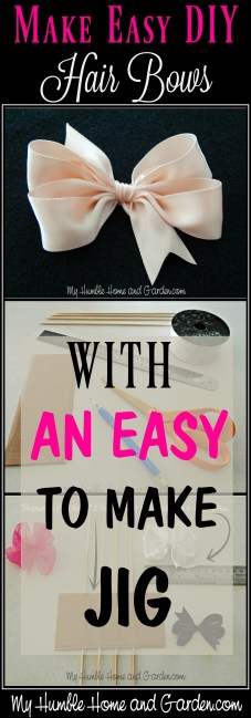 How To Make Easy Diy Hair Bows For Little Girls My Humble Home And