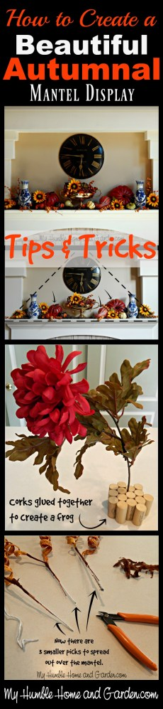 How To Create A Beautiful Autumnal Mantel Display! on MyHumbleHomeandGarden.com