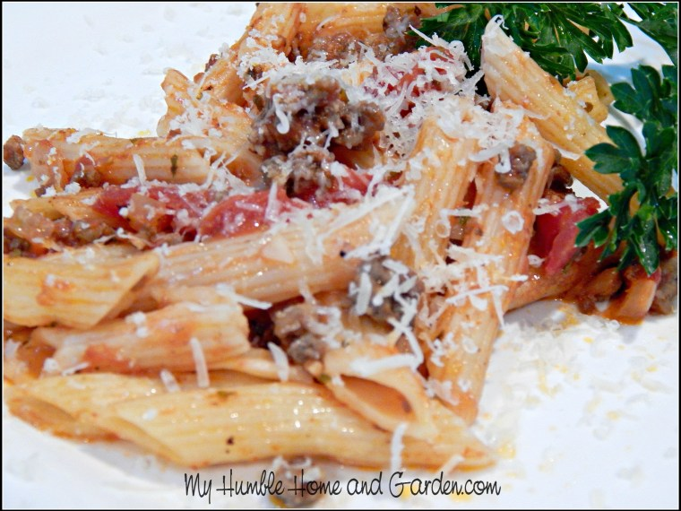 Quick And Easy Penne Pasta With Beef And Marinara Sauce
