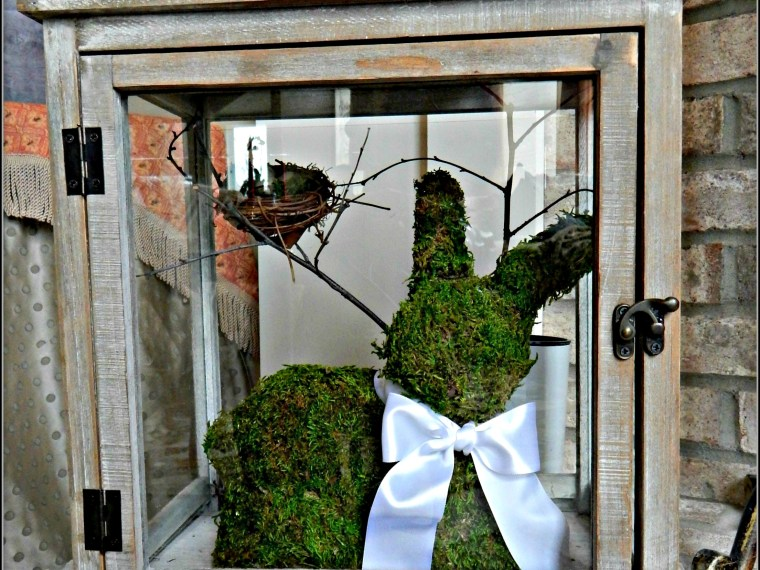 DIY Moss Covered Bunny