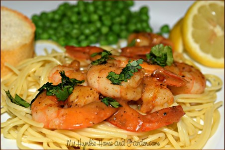 30 Minute Meal For Two - Shrimp In Wine Sauce on MyHumbleHomeandGarden.com