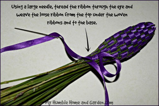 How To Make A Lavender Wand on MyHumbleHomeandGarden.com