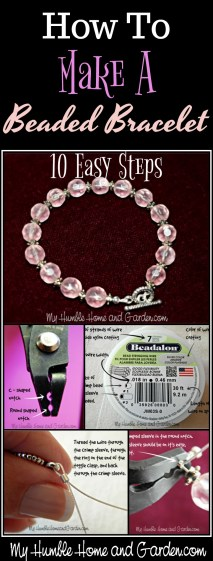 How To Make A Beaded Bracelet - 10 Simple Steps on MyHumbleHomeandGarden.com