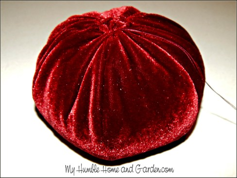 Velvet Pumpkins - How To Make on MyHumbleHomeandGarden.com