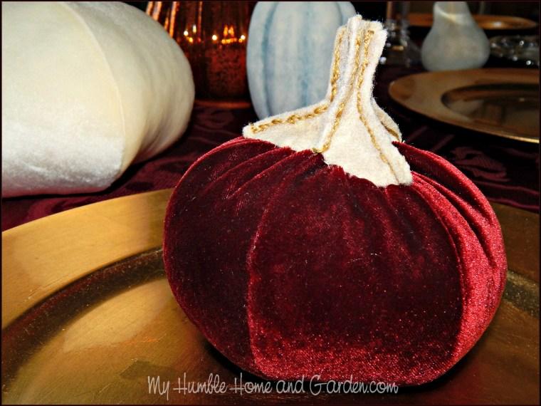 Velvet Pumpkins – How To Make