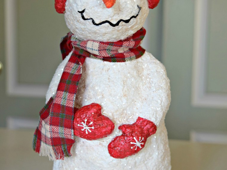 How To Make A Papier-Mâché Snowman – Part 2