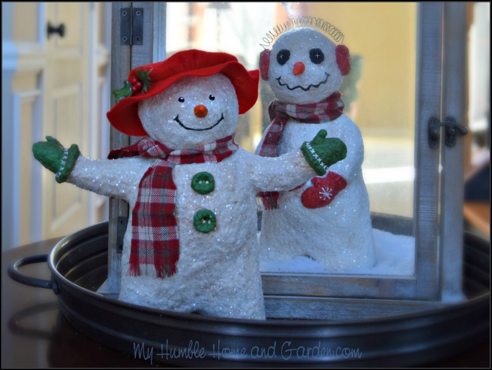 How To Make A Papier-Mâché Lady Snowman