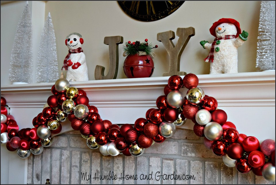 How To Easily Make Beautiful Christmas Ornament Garland - How To Easily Make Beautiful Christmas Ornament Garland - My Humble