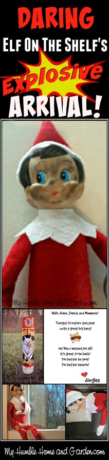The Daring Elf On The Shelf's Explosive Arrival This Year! on MyHumbleHomeandGarden.com