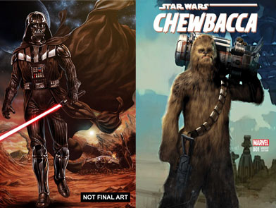 Chewbacca and Vader Down Series