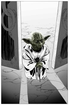 Yoda-arc teaser panel from Star Wars #26