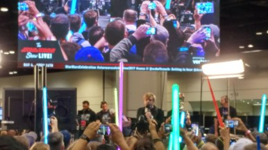 All Celebration long the speakers weren't really aimed for meant for those who gathered at the Star Wars Show Stage, so while Hamill did speak to us, we couldn't even hear it, which was very disappointing at the time (though its on the livestream now of course)