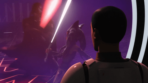 Star Wars Rebels A World Between Worlds Ezra Watches Ahsoka Vader Duel