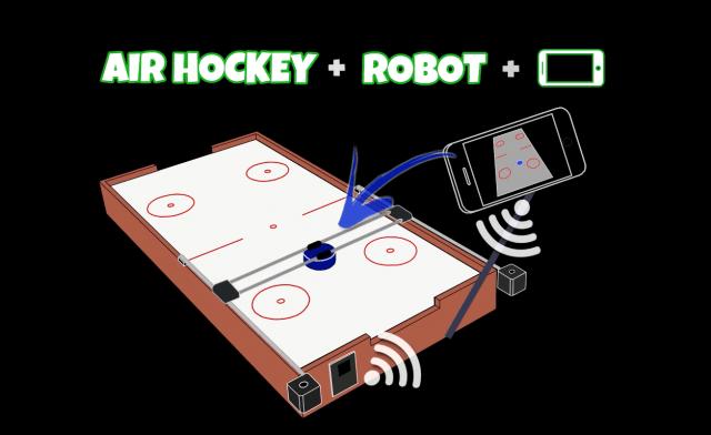 smartphone air hockey
