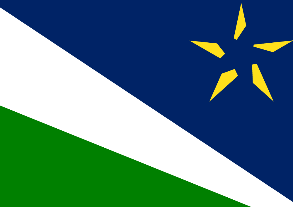 The Split North Star Flag