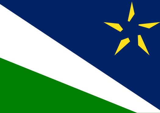 The Split North Star Flag