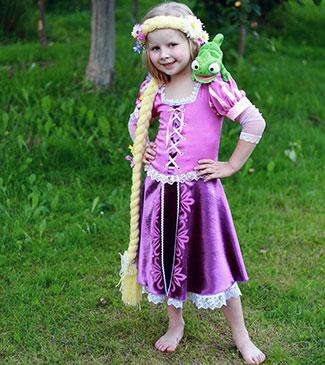 Rapunzel kjole (front)