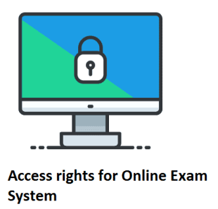 access Right for Online Exam System