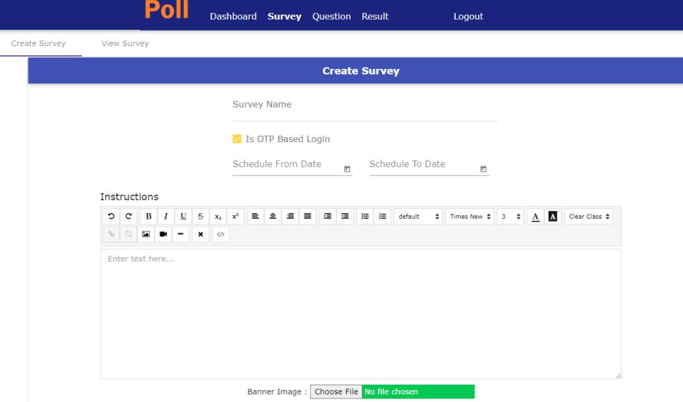 Survey Creation Step1
