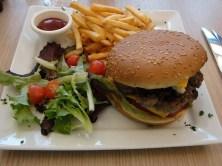 Foie gras burger with frites