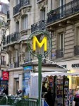 Metro logo on sign