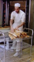 making baguettes