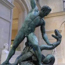 Hercule Combattant Achelous Metamorphose en Serpent