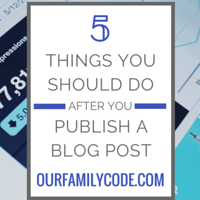 5 Things You Should Do After You Publish a Blog Post