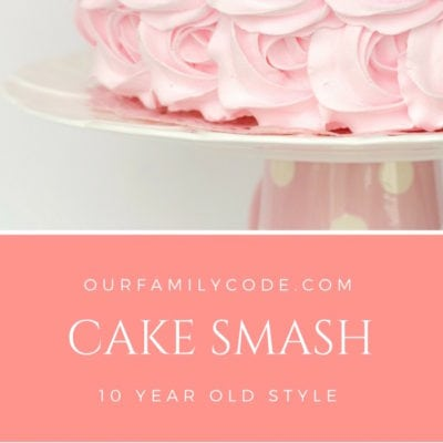 Cake Smash 10 Year Old Style #cakesmash #birthdayfun #birthday girl #birthday